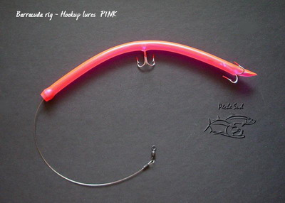 Barracuda tube lure pink for Tube fishing lure